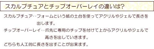 三郷 吉川 八潮 ネイルサロン スカルプチュアとチップオーバーレイの違いは.jpg
